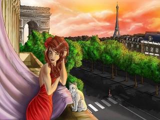 Собирать пазл Вечер в Париже онлайн