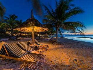 Собирать пазл Вечер в тропиках онлайн