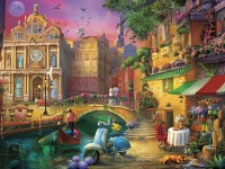 Собирать пазл Вечер в Венеции онлайн