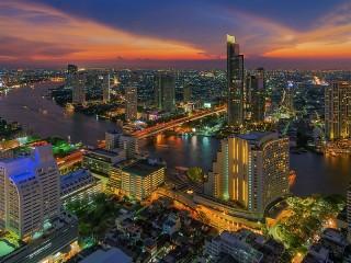 Собирать пазл Вечерний Бангкок онлайн
