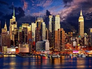 Собирать пазл Вечерний Манхэттен онлайн