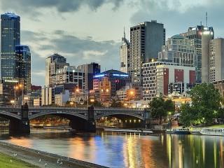 Собирать пазл Вечерний Мельбурн онлайн