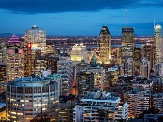 Собирать пазл Вечерний Монреаль онлайн