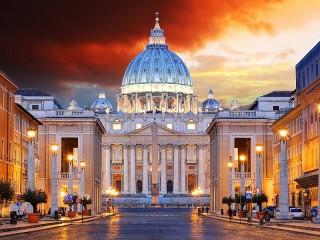 Собирать пазл Вечерний Ватикан онлайн