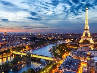 Собирать пазл Вечерний Париж онлайн