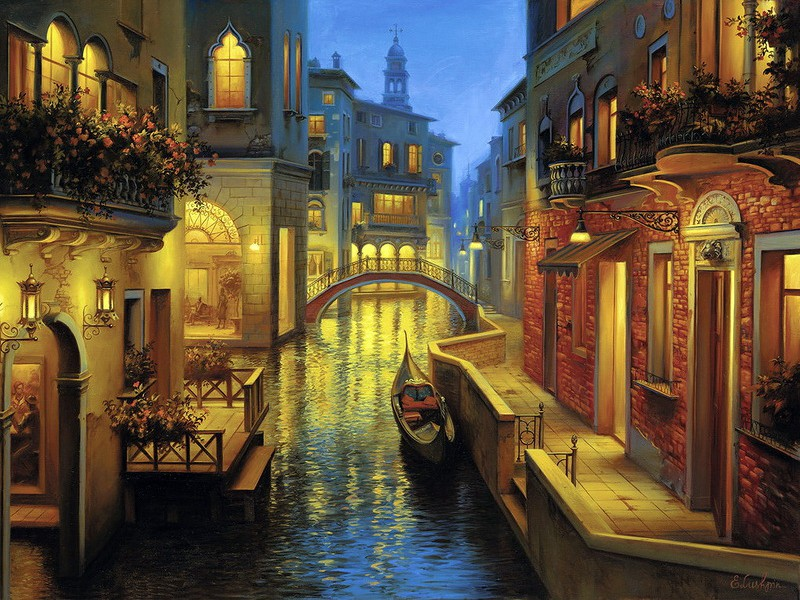 Пазл Собирать пазлы онлайн - Вечерняя Венеция