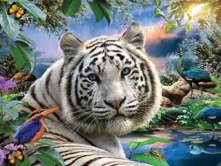 Собирать пазл Величественный тигр онлайн