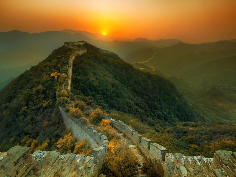 Пазл Собирать пазлы онлайн -  Китайская стена