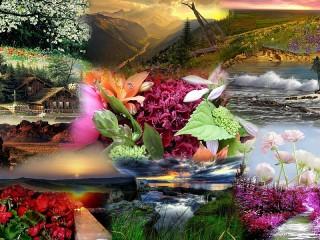 Собирать пазл Великолепие природы онлайн