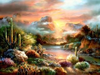 Собирать пазл Великолепие заката онлайн