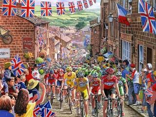 Собирать пазл Велогонка мира онлайн