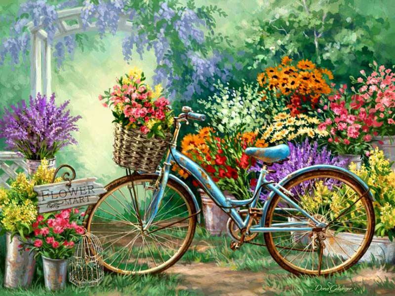 Пазл Собирать пазлы онлайн - Велосипед