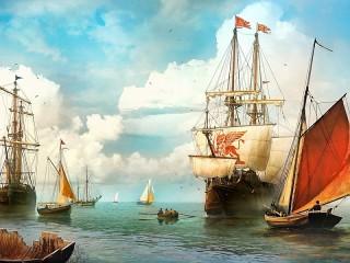 Собирать пазл Венецианский корабль онлайн