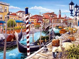 Собирать пазл Венецианский канал онлайн