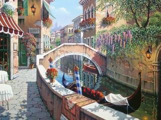 Собирать пазл Венецианское такси онлайн