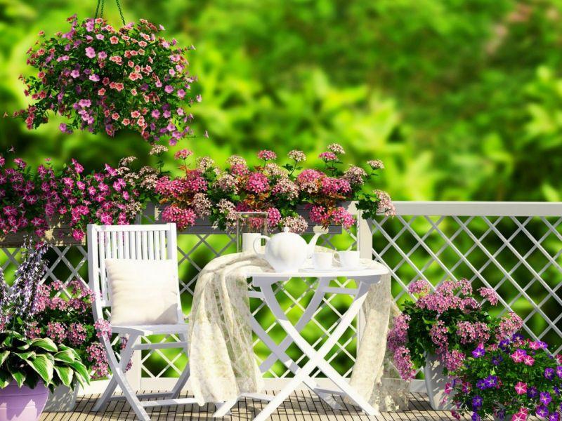 Пазл Собирать пазлы онлайн - Веранда в цветах