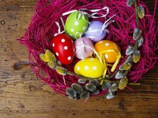 Собирать пазл Верба и яйца онлайн