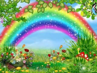 Собирать пазл Веселая радуга онлайн