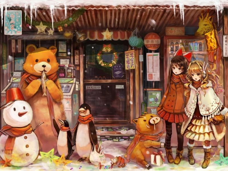 Пазл Собирать пазлы онлайн - Веселая зима