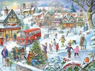 Собирать пазл Веселые праздники онлайн