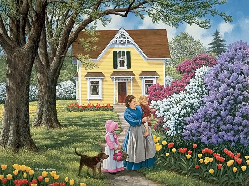Пазл Собирать пазлы онлайн - Весеннее цветение