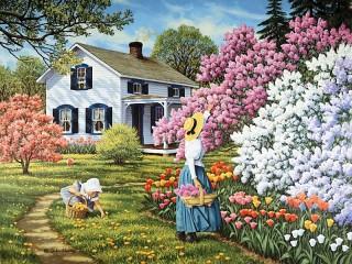 Собирать пазл Весеннее цветение 1 онлайн
