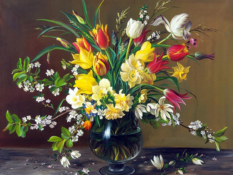 Пазл Собирать пазлы онлайн - Весенние цветы