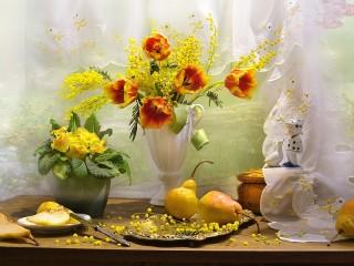 Собирать пазл Весенний букет онлайн