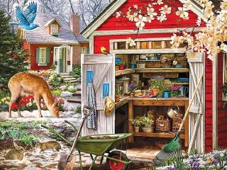 Собирать пазл Весенний денек онлайн