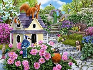Собирать пазл Весенний сад онлайн
