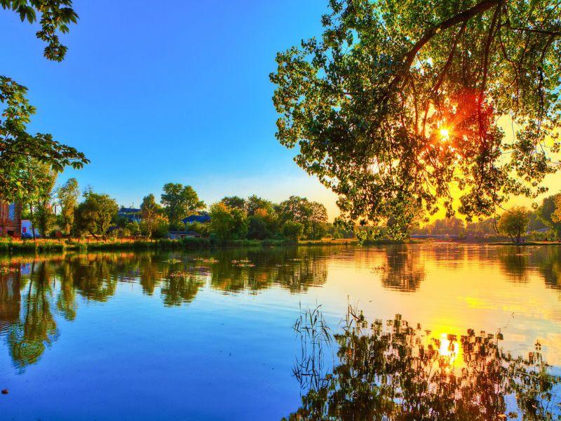 Пазл Собирать пазлы онлайн - Весенний пейзаж