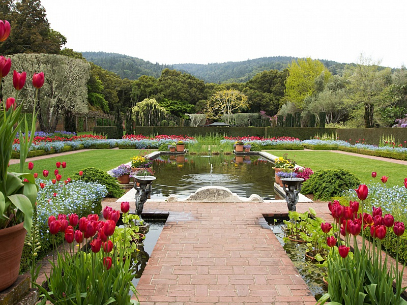 Пазл Собирать пазлы онлайн - Весенний сад