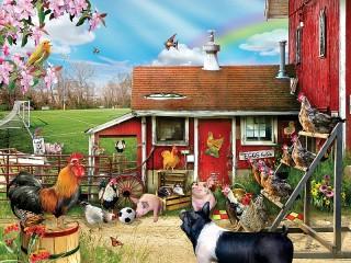 Собирать пазл Весна на ферме онлайн