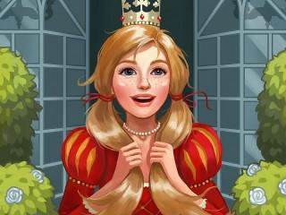 Собирать пазл Весёлая принцесса онлайн