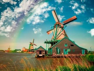 Собирать пазл Ветряные мельницы онлайн