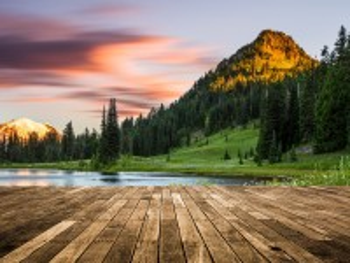 Собирать пазл Вид на озеро онлайн
