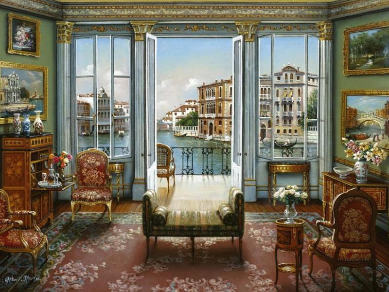 Пазл Собирать пазлы онлайн - Вид на Венецию