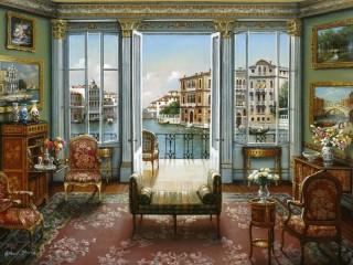 Собирать пазл Вид на Венецию онлайн