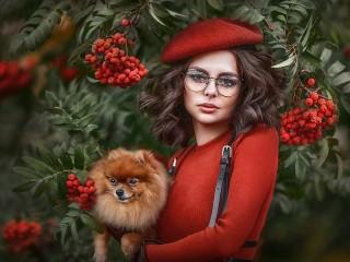 Собирать пазл Выгуливая собаку онлайн