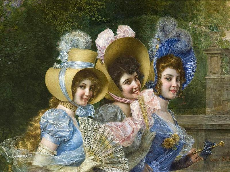 Пазл Собирать пазлы онлайн - Викторианские красавицы