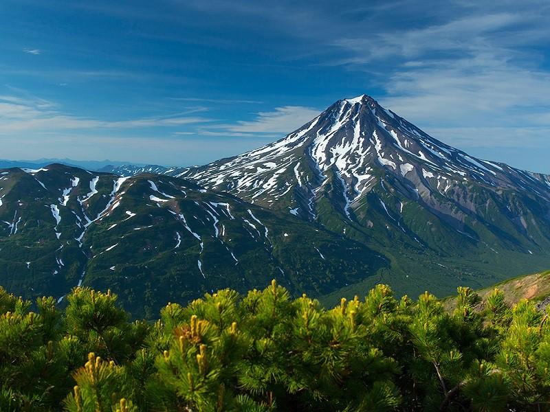 Пазл Собирать пазлы онлайн - Вилючинский вулкан
