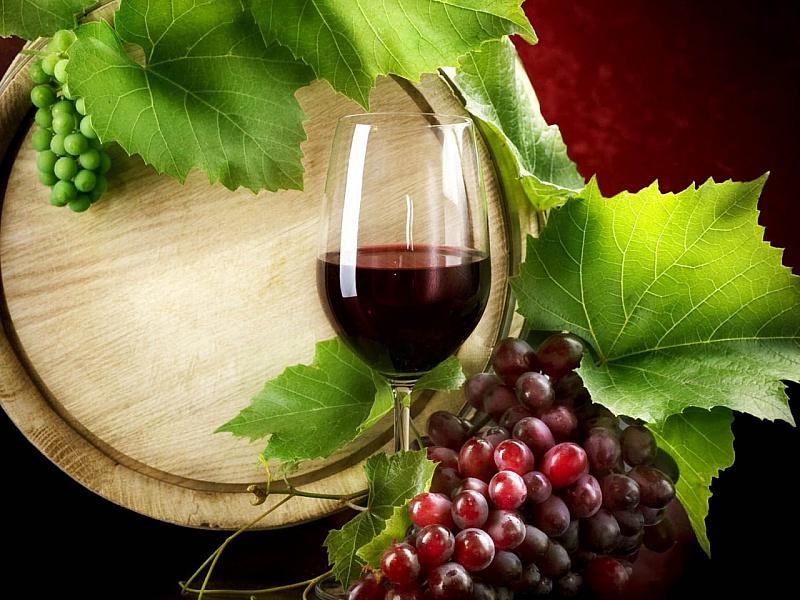 Пазл Собирать пазлы онлайн - Вино и виноград