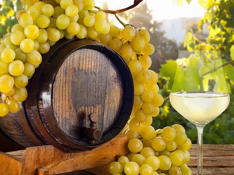 Пазл Собирать пазлы онлайн - Виноград и вино