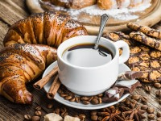 Собирать пазл Выпечка и кофе онлайн
