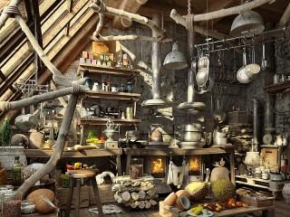Собирать пазл Виртуальная кухня онлайн