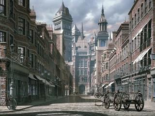 Собирать пазл Виртуальный город онлайн