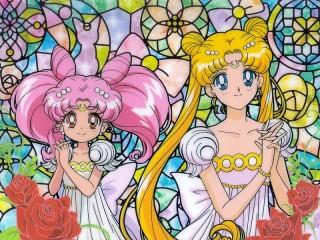 Собирать пазл Витраж с принцессами онлайн