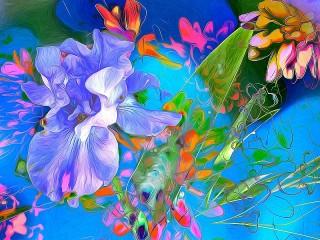 Собирать пазл Витражная абстракция онлайн
