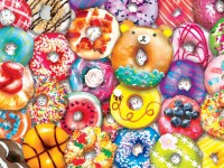Собирать пазл Вкусные донатсы онлайн