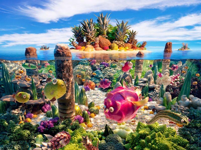 Пазл Собирать пазлы онлайн - Вкусный остров